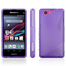 Coque Sony Xperia Z1 Compact Mini S-Line Silicone Gel Housse - Pourpre