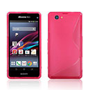 Coque Sony Xperia Z1 Compact Mini S-Line Silicone Gel Housse - Rose Chaud
