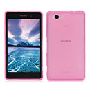 Coque Sony Xperia Z1 Compact Mini Silicone Transparent Housse - Rose