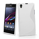 Coque Sony Xperia Z1 L39h S-Line Silicone Gel Housse - Blanche