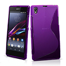 Coque Sony Xperia Z1 L39h S-Line Silicone Gel Housse - Pourpre