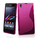 Coque Sony Xperia Z1 L39h S-Line Silicone Gel Housse - Rose Chaud
