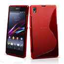 Coque Sony Xperia Z1 L39h S-Line Silicone Gel Housse - Rouge