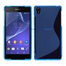 Coque Sony Xperia Z2 S-Line Silicone Gel Housse - Bleu