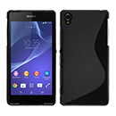 Coque Sony Xperia Z2 S-Line Silicone Gel Housse - Noire