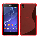 Coque Sony Xperia Z2 S-Line Silicone Gel Housse - Rouge