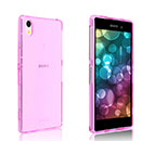 Coque Sony Xperia Z2 Silicone Transparent Housse - Rose Chaud
