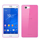 Coque Sony Xperia Z3 Compact Mini Silicone Transparent Housse - Rose Chaud