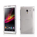Coque Sony Xperia ZL L35H S-Line Silicone Gel Housse - Blanche