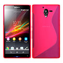 Coque Sony Xperia ZL L35H S-Line Silicone Gel Housse - Rose Chaud