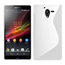 Coque Sony Xperia ZL L35H S-Line Silicone Housse Gel - Blanche