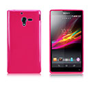Coque Sony Xperia ZL L35H Silicone Gel Housse - Rose Chaud