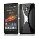 Coque Sony Xperia ZL L35H X-Line Silicone Gel Housse - Noire