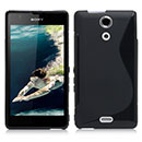 Coque Sony Xperia ZR M36h S-Line Silicone Gel Housse - Noire