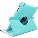 Etui en Cuir Apple iPad 2 Housse Cover - Bleue Ciel