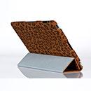 Etui en Cuir Apple iPad 3 Leopard Housse Cover - Brown