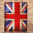 Etui en Cuir Apple iPad 4 Le drapeau du Royaume-Uni - Mixtes