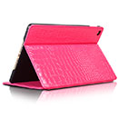 Etui en Cuir Apple iPad Air 2 Crocodile Housse Cover - Rose Chaud