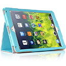 Etui en Cuir Apple iPad Air 2 Housse Cover - Bleue Ciel