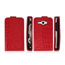 Etui en Cuir HTC Chacha G16 A810e Crocodile Housse Cover - Rouge