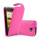 Etui en Cuir HTC One S Housse - Rose Chaud