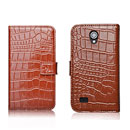 Etui en Cuir Huawei Ascend G330C G330D U8825D Crocodile Cover Housse - Brown
