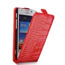 Etui en Cuir Huawei Ascend G510 U8951D Crocodile Housse Cover - Rouge