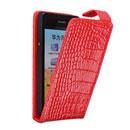Etui en Cuir Huawei Ascend G600 U8950D Crocodile Housse Cover - Rouge