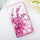 Etui en Cuir Huawei Ascend Y300 U8833 Fleurs Housse - Rose
