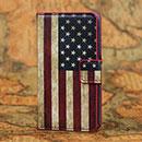 Etui en Cuir Huawei Ascend Y300 U8833 Le drapeau des Etats-Unis - Mixtes