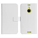 Etui en Cuir Nokia Lumia 1520 Support Porte Housse - Blanche