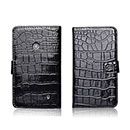 Etui en Cuir Nokia Lumia 520 Crocodile Housse Cover - Noire