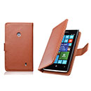 Etui en Cuir Nokia Lumia 520 Housse Cover - Brown