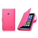 Etui en Cuir Nokia Lumia 520 Housse Cover - Rose Chaud