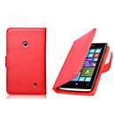 Etui en Cuir Nokia Lumia 520 Housse Cover - Rouge