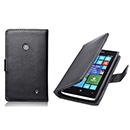 Etui en Cuir Nokia Lumia 525 Housse Cover - Noire