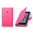 Etui en Cuir Nokia Lumia 525 Housse Cover - Rose Chaud