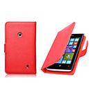 Etui en Cuir Nokia Lumia 525 Housse Cover - Rouge