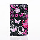 Etui en Cuir Nokia Lumia 925 Papillon Housse - Noire