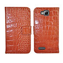 Etui en Cuir Samsung Ativ S i8750 Crocodile Housse Cover - Brown
