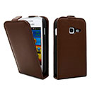 Etui en Cuir Samsung Galaxy Ace Duos S6802 Housse - Brown