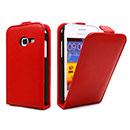 Etui en Cuir Samsung Galaxy Ace Duos S6802 Housse - Rouge
