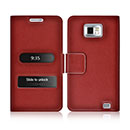 Etui en Cuir Samsung Galaxy S2 Plus i9105 Housse - Rouge