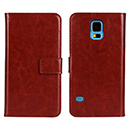 Etui en Cuir Samsung Galaxy S5 i9600 Housse Cover - Brown