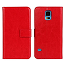 Etui en Cuir Samsung Galaxy S5 i9600 Housse Cover - Rouge