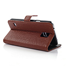 Etui en Cuir Samsung Galaxy S5 i9600 Support Porte Housse - Brown