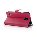 Etui en Cuir Samsung Galaxy S5 i9600 Support Porte Housse - Rose Chaud