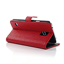 Etui en Cuir Samsung Galaxy S5 i9600 Support Porte Housse - Rouge