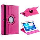Etui en Cuir Samsung Galaxy Tab 3 10.1 P5200 P5210 Support Porte Housse - Rose Chaud