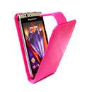 Etui en Cuir Sony Ericsson Xperia Arc S LT18i Housse - Rose Chaud